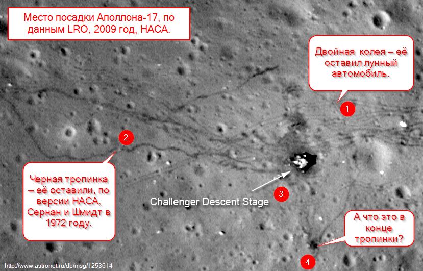 Следы астронавтов на Луне
