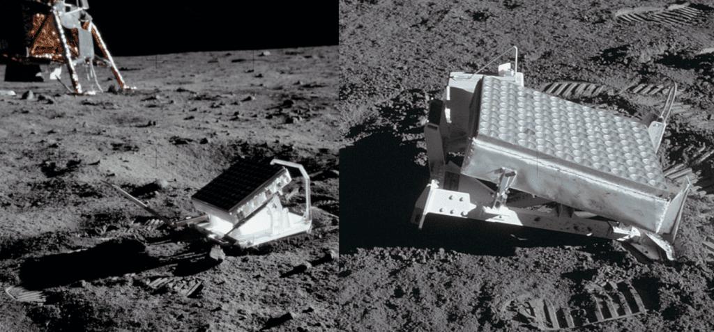 уголковый отражатель на Луне