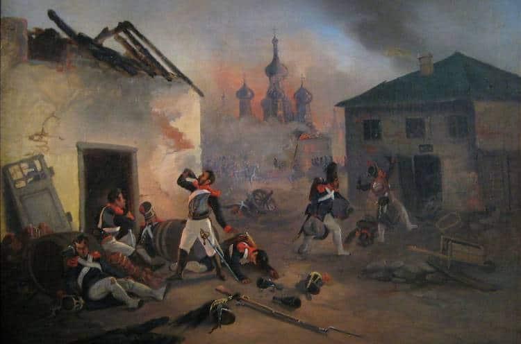 Наполеон Бонапарт и его армия в Москве