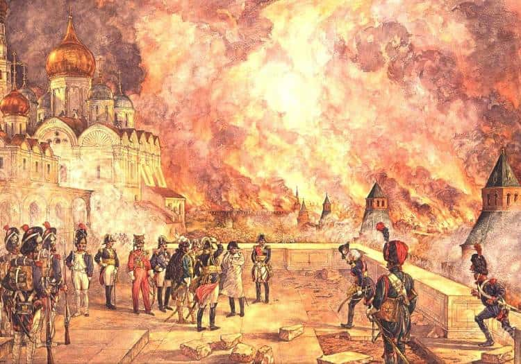 Наполеон Бонапарт и пожар в Москве