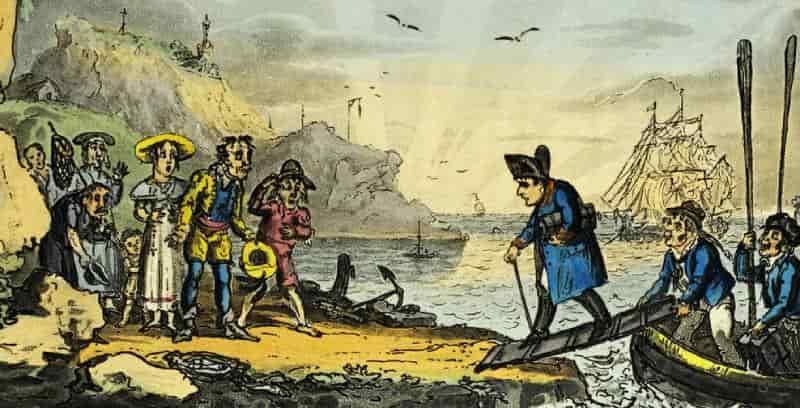 Наполеон Бонапарт в ссылке на острове Эльба