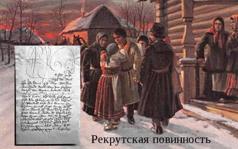 крепостное право в России и рекрутская повинность