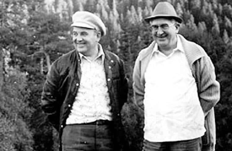 Михаил Горбачев и Юрий Андропову