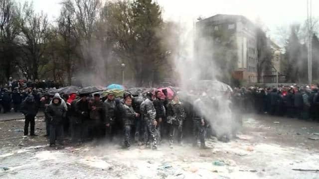 Акции протеста против Украины в Запорожье в апреле 2014 года