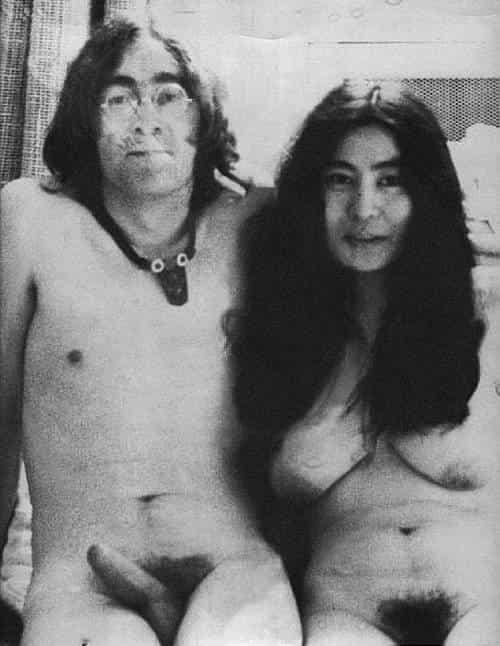 Голые знаменитости Запада (Джон Леннон и Йоко Оно)