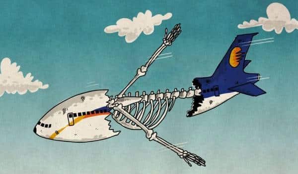 Карикатура на кризис в гражданской авиации