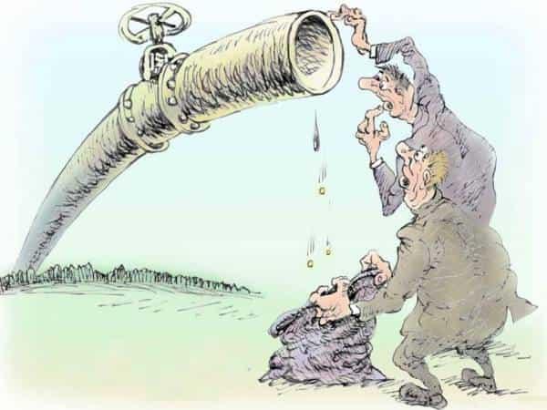 Карикатура на тему нефти
