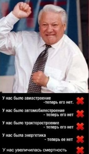 Борис Ельцин и итоги его правления